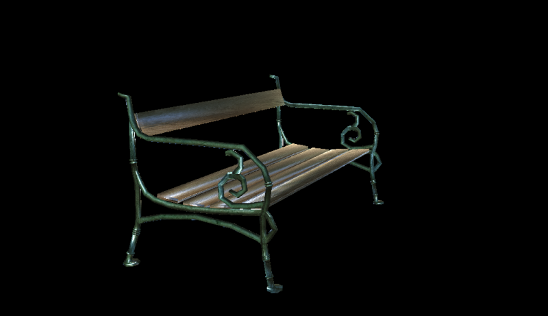 Bench 3d model 111