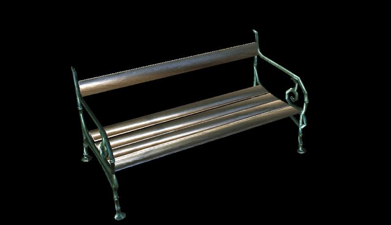 Bench 3d model 210
