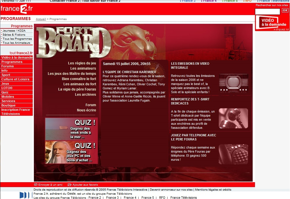 France 2 - Généralités sur le diffuseur de Fort Boyard (TV et Web) - Page 4 200610