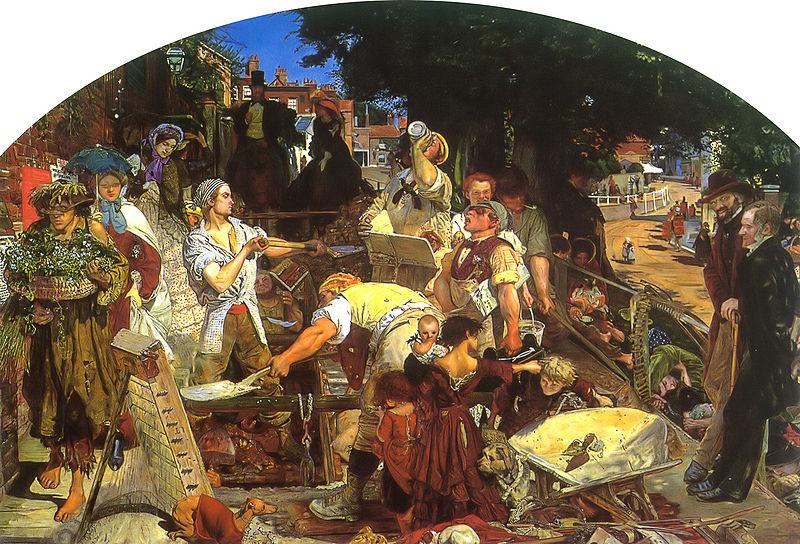 Les préraphaélites   -    tiré de l'Histoire de l'art en images, Andrew Graham-Dixon, p 332-333 800px-10