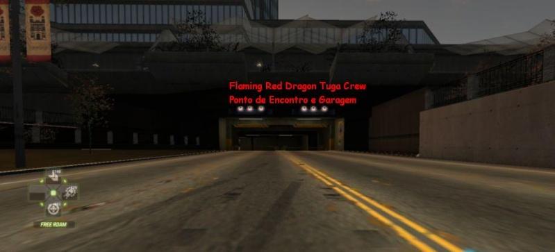 Flaming Red Dragon Tuga Crew Ponto de Encontro e Garagem Nfsw0314
