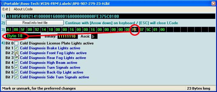 Numérotation des bits pour les modifs. Byte_v10