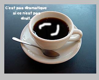 Effet crème dans une tasse de café Image210