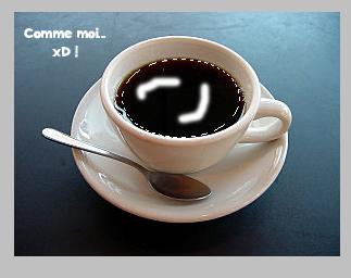 Effet crème dans une tasse de café Image310