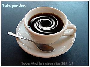Effet crème dans une tasse de café Image611