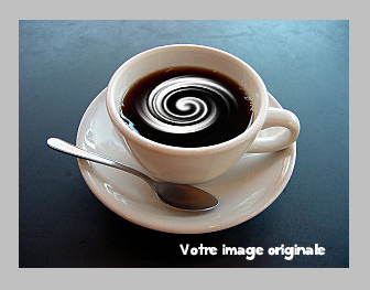Effet crème dans une tasse de café Imagef11