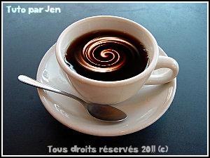 Effet crème dans une tasse de café Imagef14