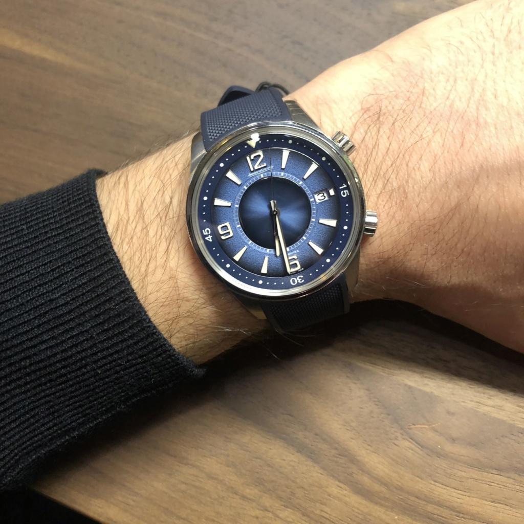 Jaeger - Jaeger-LeCoultre Polaris Date cadran bleu fumé 11c11e10