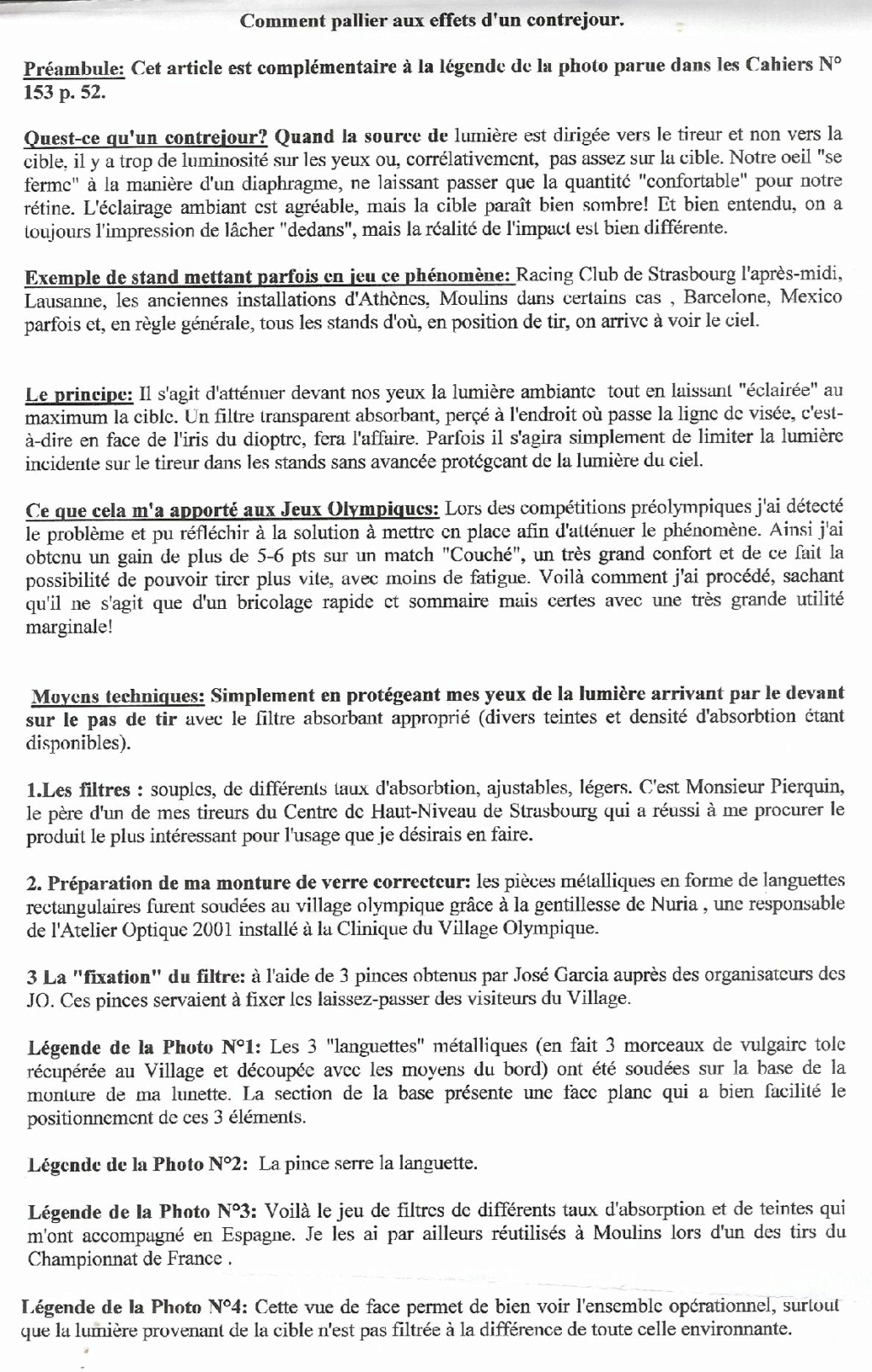 Ouverture et accord dioptre / guidon 00129