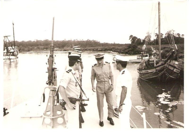 [ Divers Gendarmerie Maritime ] 1977 - Création de la brigade de gendarmerie maritime à Cayenne. P_78110