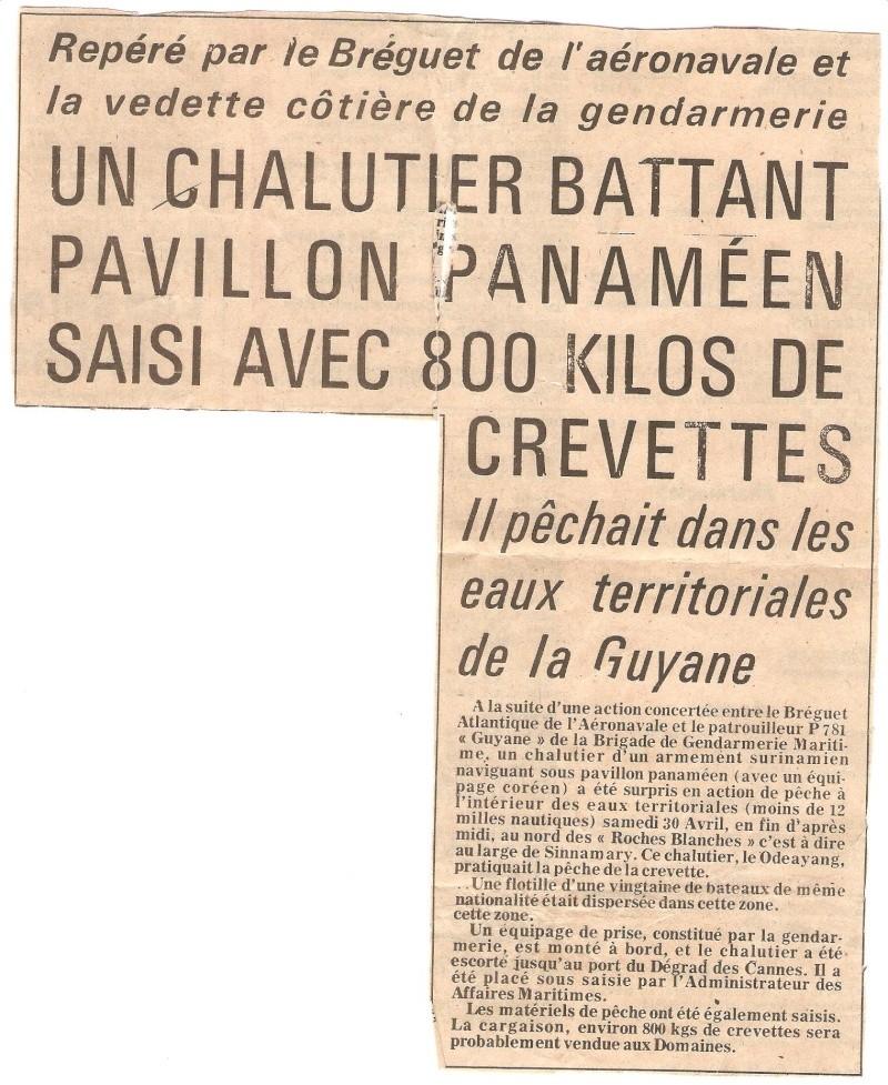[ Divers Gendarmerie Maritime ] 1977 - Création de la brigade de gendarmerie maritime à Cayenne. Surpac10