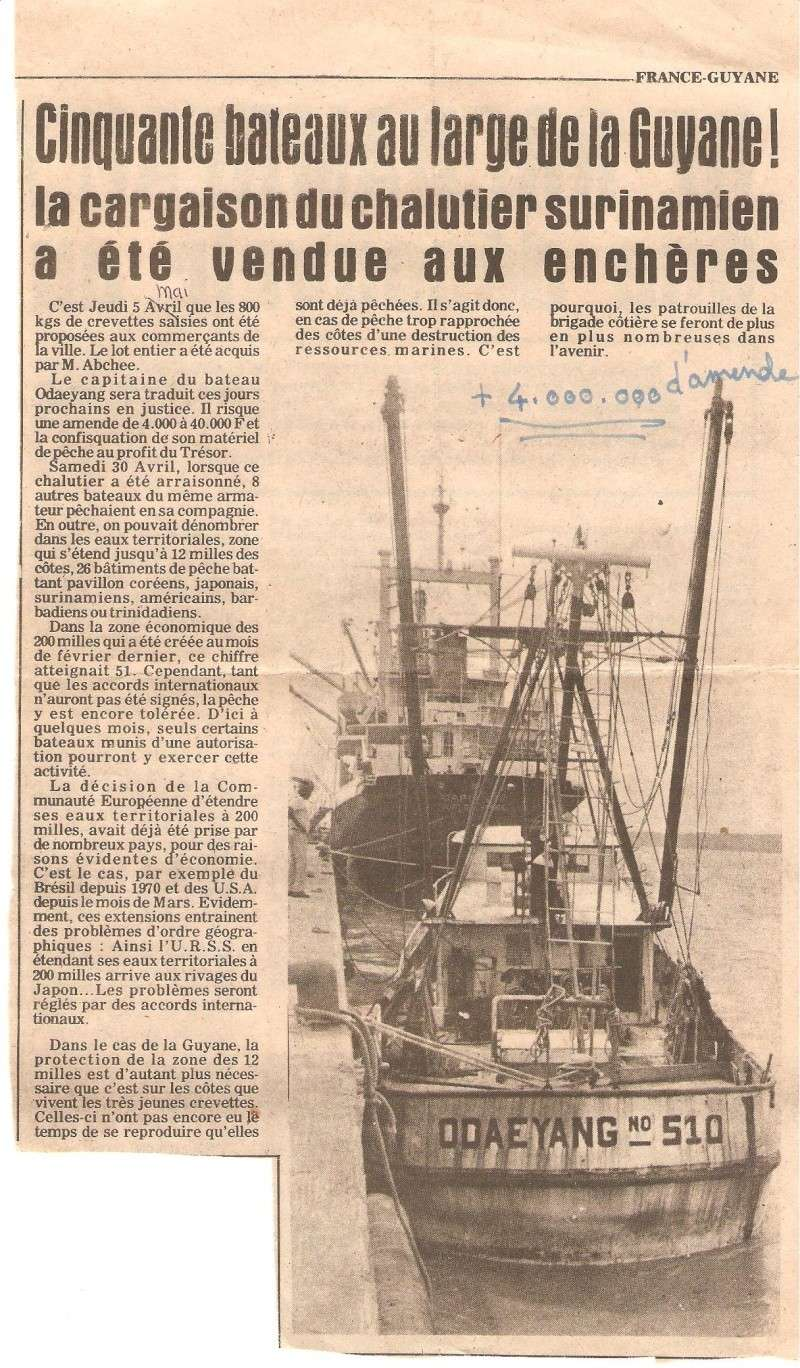[ Divers Gendarmerie Maritime ] 1977 - Création de la brigade de gendarmerie maritime à Cayenne. Surpac11