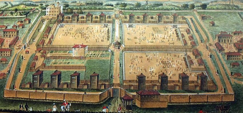 Les prisonniers de guerre français en Angleterre. Camp_d10