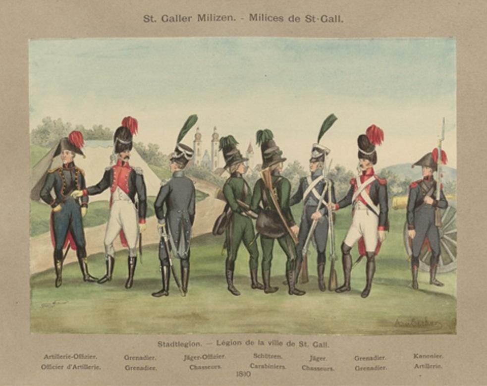 Milice du canton de  St Gall Infant10