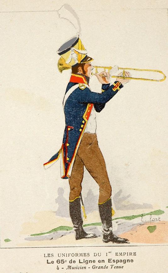 Vitrine Alain 2  Cavalerie légère   Hussard du 14e régiment 1814 MM54mm - Page 11 Musici10