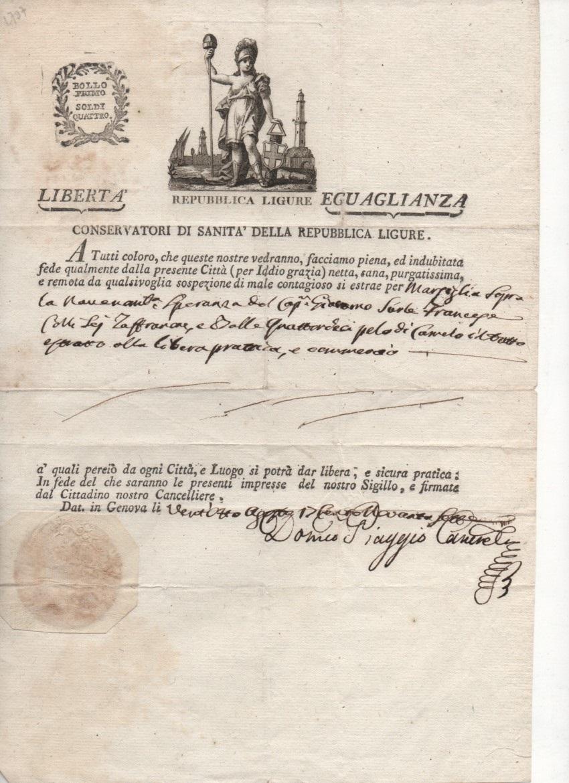 Republique Ligure ou Ligurienne 1797- 1805 Passep10