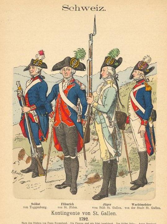 Milice du canton de  St Gall Togenb10