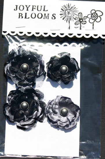 Satin Flowers Blackg10