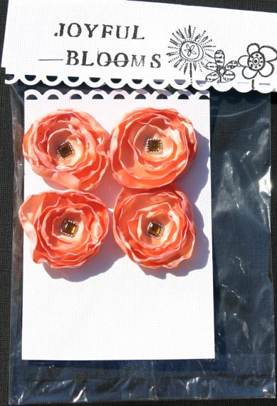 Satin Flowers Orange10
