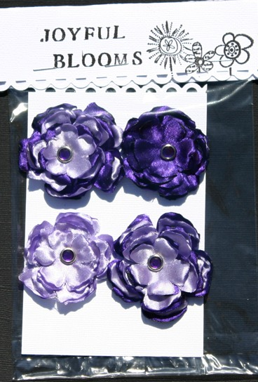 Satin Flowers Purple10