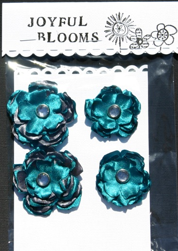 Satin Flowers Tealgr10