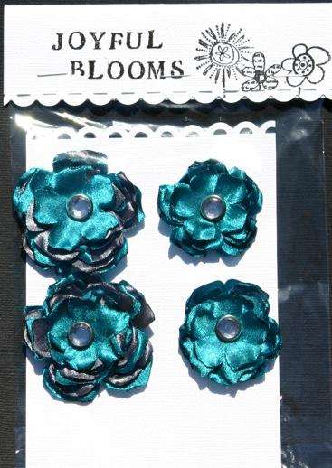 Silk Flowers- Aka- Joyful Blooms Tealgr12