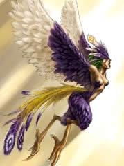 lista de animais mitológicos Harpia10