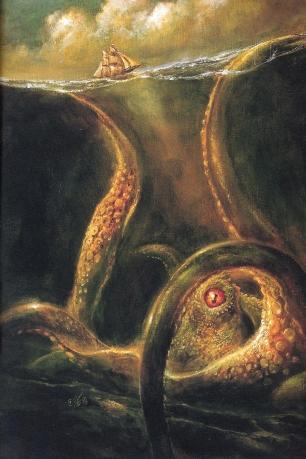 lista de animais mitológicos Kraken10