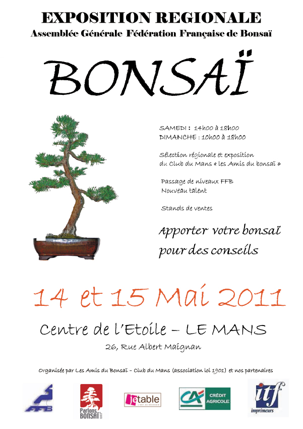 Le Mans 14 et 15 mai expo bonsai 11051410