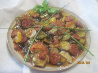 chorizo aux légumes de saison Choriz11