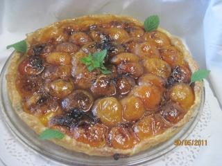 tarte aux abricots à la vanille Fleurs12