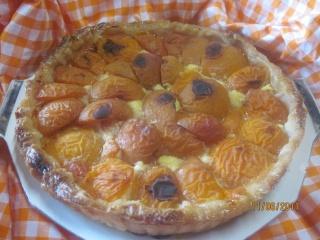 tarte à la crème à l'anis verte aux abricots Tarte_19