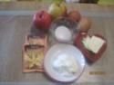 omelette aux de dés de  pommes sucrées Cuisse15
