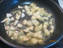 omelette aux de dés de  pommes sucrées Cuisse21