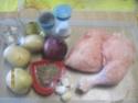 cuisses de poulet sur un lit de pommes de terre cuit  à l'étouffée Cuisse27