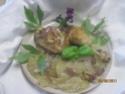 cuisses de poulet sur un lit de pommes de terre cuit  à l'étouffée Cuisse35