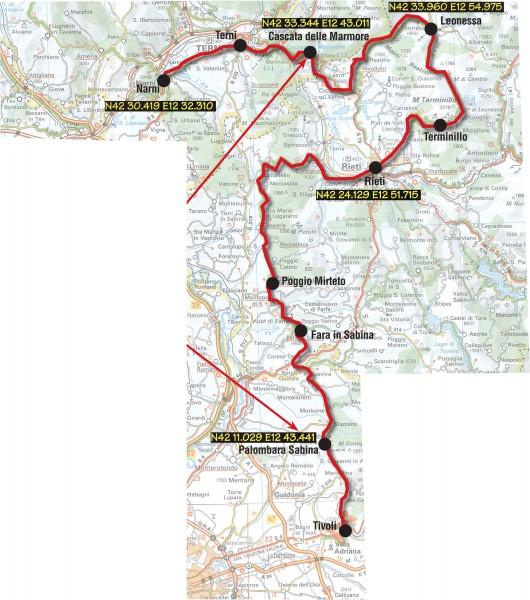 Moto Turismo viaggio fra Narni e Tivoli