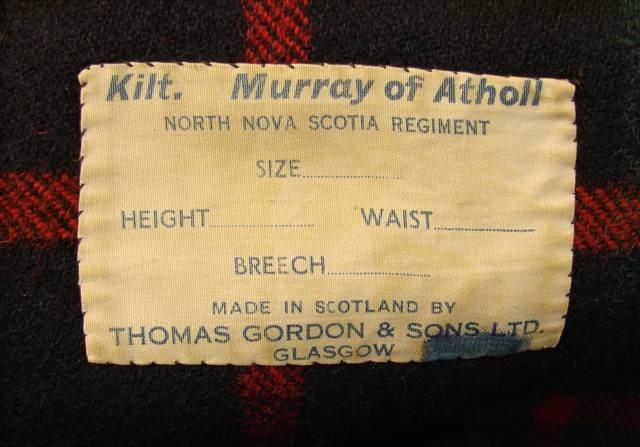 North Nova Scotia Highlanders Kilt (NNSH) 15146-14