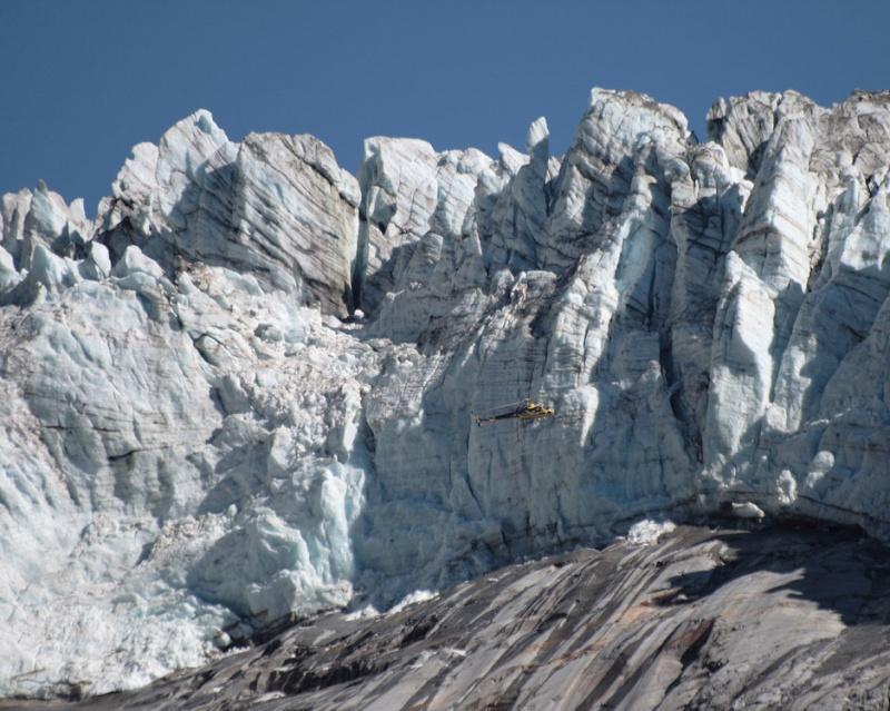 Point de vue du glacier d'Argentière Helico10
