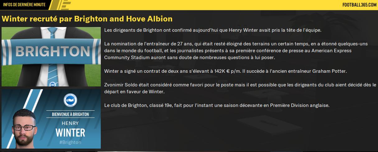 [FM21] Premier League Story | Le destin d'Henry Winter Footb121