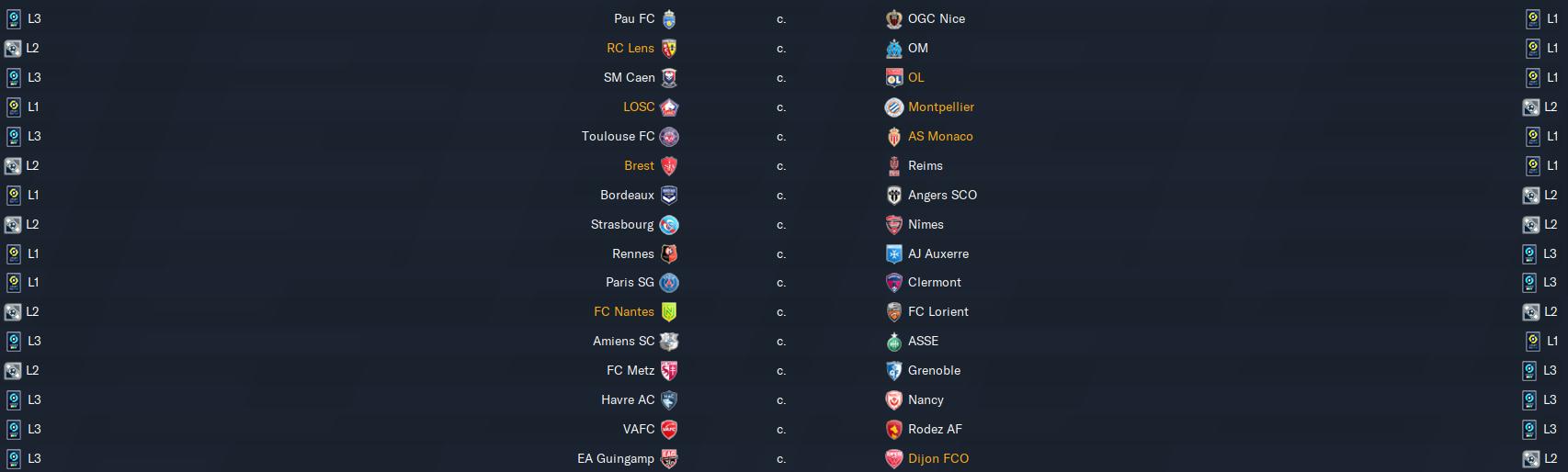 2ème tour de Coupe de France avant dimanche 3 12h Footb618