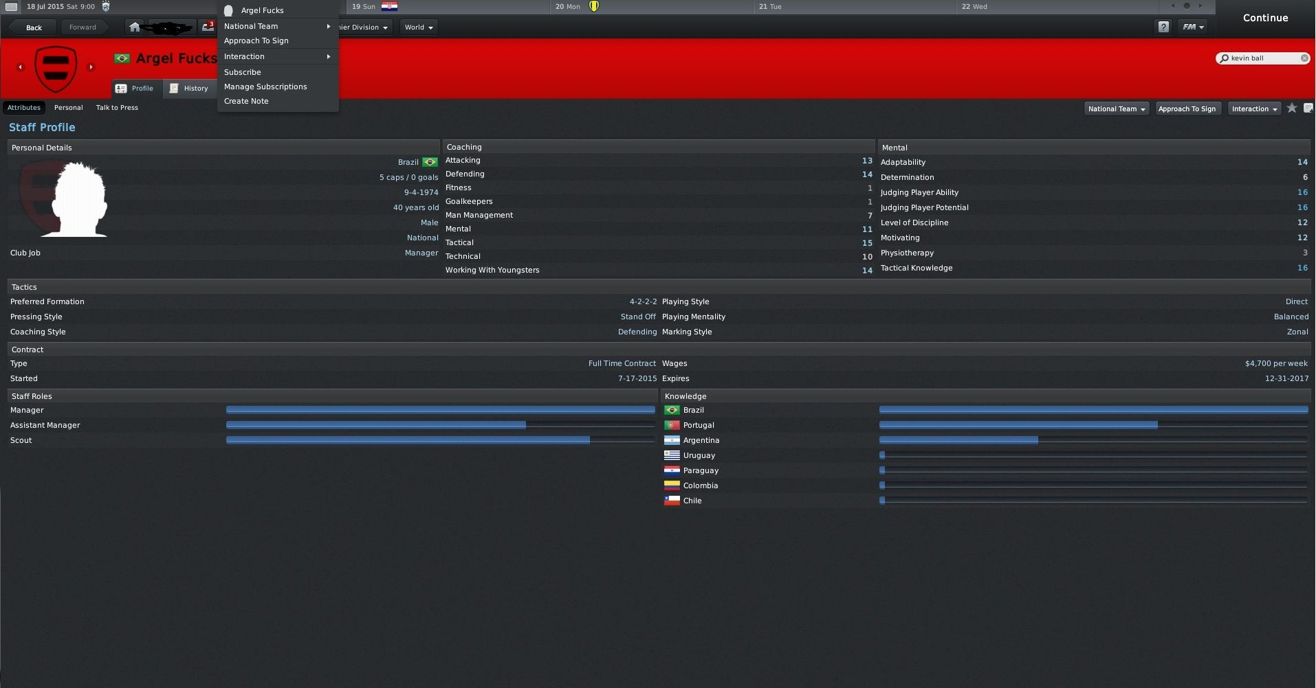 Official Football Manager Thread Argelf10