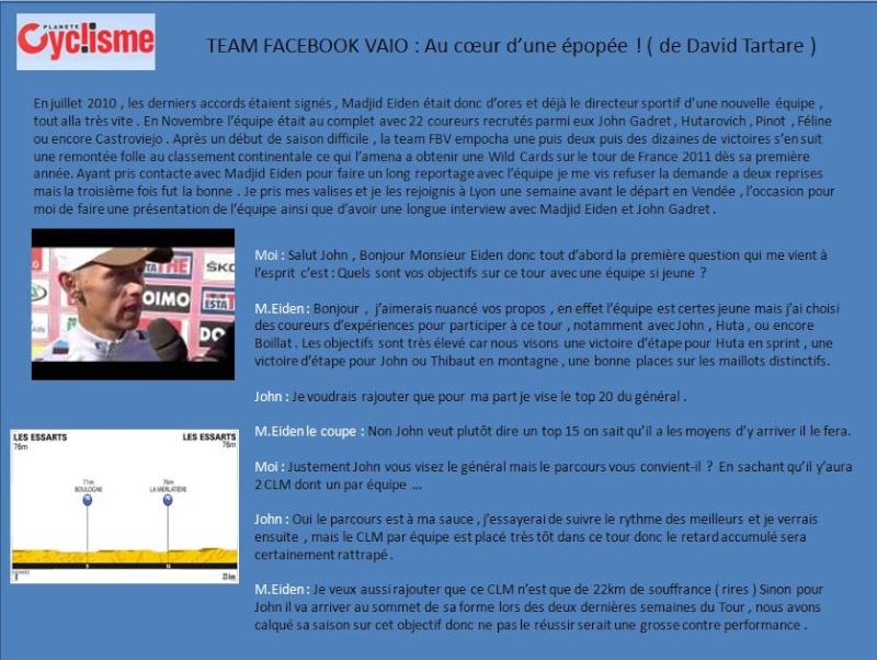 [Story] Tour de France 2011 - Team Facebook/Vaio 1110