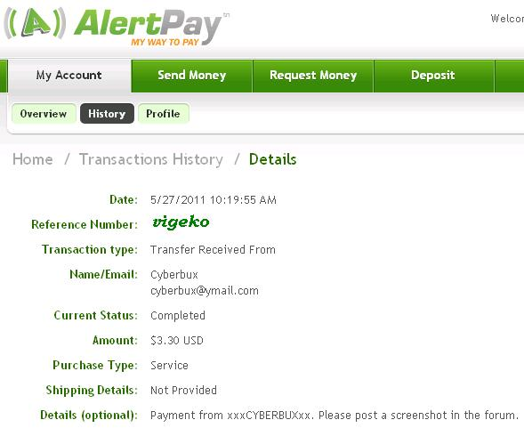 My payment proofs Xxxcyb11