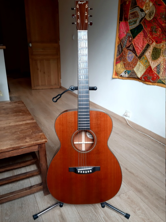 Vends OM custom BOURGEOIS Redwood/flamed Mahogany  20200919