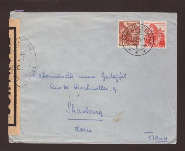 Censure P.Am sur courier de la Suisse pour l'Alsace !! 1005312