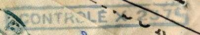 """Censure """"CONTROLE X 237"""" ?? sur lettre d'Italie pour Tunis en mai 1941. 1_cens10"""