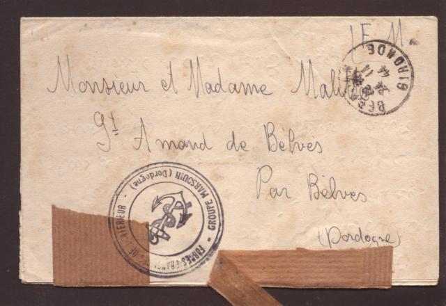 Censure postale de la IVe République en 1944 3002810