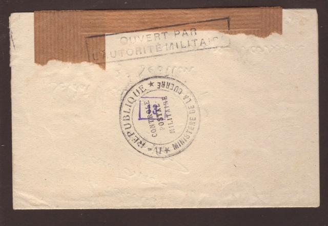 Censure postale de la IVe République en 1944 4002910