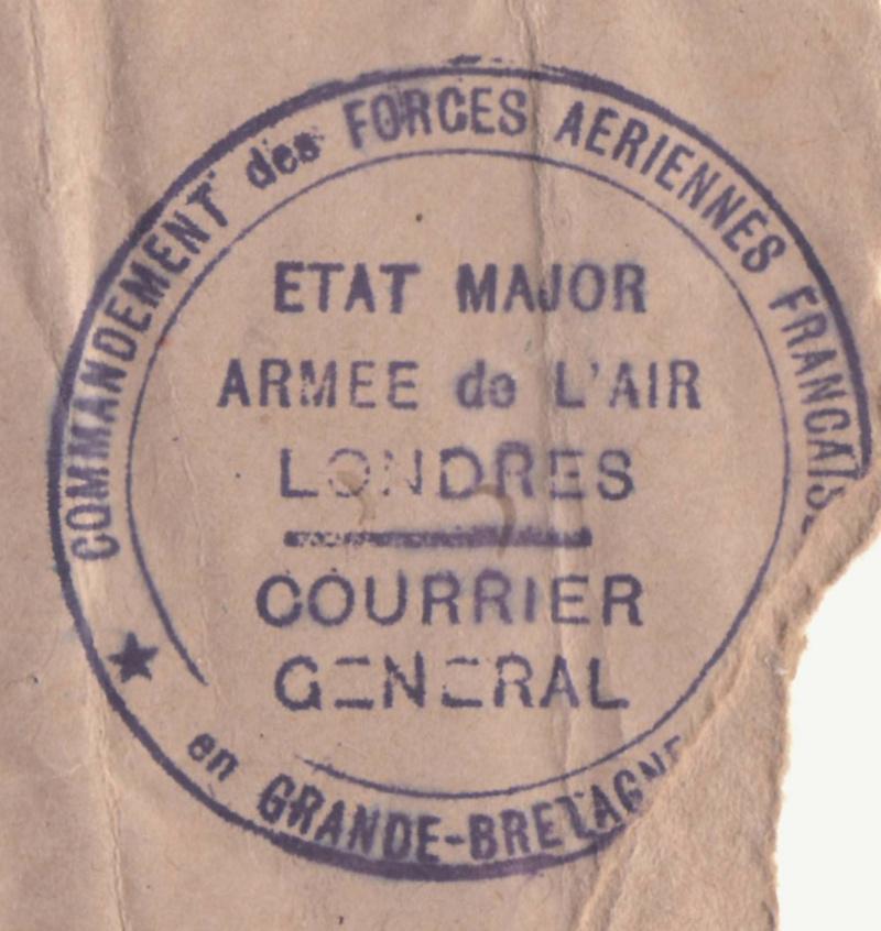 Lettre de l'Etat Major de l'armée de l'air - Londres de mai 1944 pour Alger. _brit_17